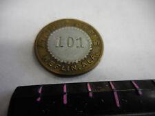 RARE  BI-METAL #101 ATKINS & OWENS 10 CENT  TOKEN--HEFLIN,ALA.