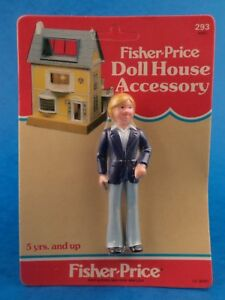 """Unopened - FISHER PRICE - DOLLS HOUSE ACCESSORY - Father 1983 Carded Approx 4"""""""