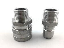 """Stainless Steel Female Quick Disconnect Set Beer Homebrew Fitting 1/2"""" MPT"""