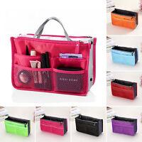Womens Multifunctional Cosmetic Travel Insert Handbag Organizer Toiletry Pouch