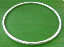 "100% REAL 925 sterling silver plain ""3x60mm SOLID"" round BANGLE -TEEN GIRL WOMEN"