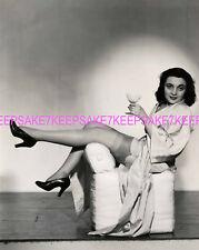 UKNOWN ACTRESS OPENS HER ROBE UPSKIRT BEAUTIFUL LEGS NYLONS 8x10 PHOTO A-UKN 30s