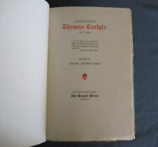 ©1903 COLLECTANEA THOMAS CARLYLE 1821-1865 LIMITED FIRST EDITION of 125