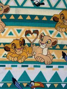Lion King Fabric 100% cotton,Timon Pumbaa Nala Simba FABRIC 1/2 YARD Disney Cute