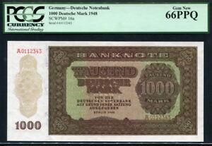 Germany Democratic Republic 1948, 1000 Deutsche Mark, P16a, PCGS 66 PPQ GEM UNC