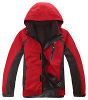 Mens Ski Jacket SnowboardD101 Red Snow Winter Waterproof Breathable S M L XL XXL