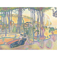 Henri-Edmond Cross Evening Air Painting Canvas Wall Art Print Poster