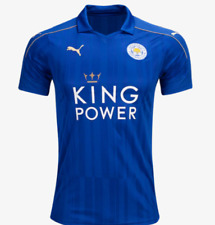 NEW Genuine 17 PUMA Leicester City FC Home Jersey Size Adult Men's Large L