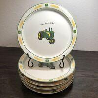 "JOHN DEERE AMBER WAVES 8 1/4"" Salad/Desert Plates Lot Of 5 By Gibson Design"
