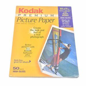 "Kodak Premium Picture Paper High Gloss 8 1/2"" X 11"" - 50 Sheets - New/Sealed"