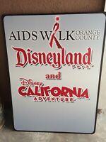 DISNEYLAND California Adventure Aids Walk OC Sign DCA Parks PROP Sign HUGE!
