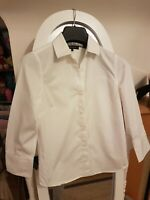 Jaeger Size 8 White Fitted Shirt Office Business VCG
