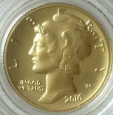 2016 W 10c Winged Liberty Centennial Commemorative 1/10oz Gold Dime