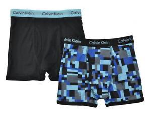 Calvin Klein Boys Blue & Black 2 Pack Boxer Briefs Size 4/5 6/7 8/10 12/14 16/18