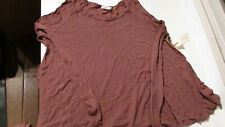 NWT $60 FRESH LAUNDRY WOMENS SCOOP NECK WAFFLE KNIT L/S TOP SHIRT COCONUT LARGE