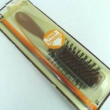 Vintage Tip Top Hair Brush Brown Plastic Handle Nylon Bristles NOS