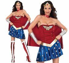Official Ladies WONDER WOMAN DC Comic Superhero Hero Fancy Dress Costume Adult