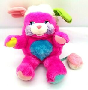Popples Plush Pink Purple Fur PRIZE Popple Stuffed Animal Vintage 1986 Magenta