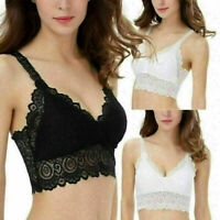 Sexy Women Bralette Lace Blouse Vest Crop Top Tank Tops Padded Bra Bustier Z8F4
