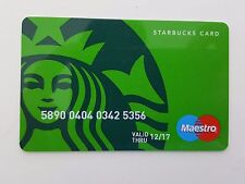 TURKEY - STARBUCKS CARD - 40th ANNIVERSARY - MASTERCARD - RARE