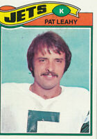 Pat Leahy 1977 Topps #267 New York Jets Football Card