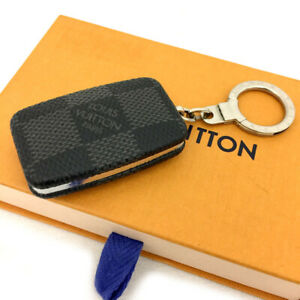 Louis Vuitton Damier Graphite Astro pill key ring Chain Key Ring Charm /71083