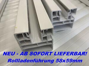 PVC Rollladen Führung Rollladenführung 58x59mm weiß (Paar) 80cm - 190cm