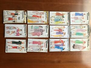 1970's Vintage Dress Sewing Patterns Women's all sizes, assorted brands