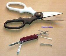SCISSORS MULTI PURPOSE & MINI POCKET KNIFE 5 FUNCTION- NEW