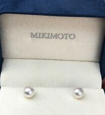MIKIMOTO Pearl 7.3 mm 18kt Yellow Gold Stud Earrings O41
