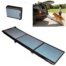 Pet Dog Ramps For Car SUV Bed Truck Gear Tri-Fold Ramp 71 Inch Extra Wide