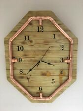 Rustic industrial style wall clock
