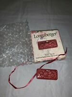 Longaberger 2001 May Series Peony Tie-On Basket Accessory 39535