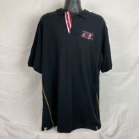 Coogi Mens Polo Shirt Black Red Embroidered Back Short Sleeve 100% Cotton 3xl