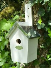 Bird box for small birds chunky wood and tin roof removable base for cleaning