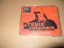 Stevie Wonder So What The Fuss 3 Track cd single 2005 New & Sealed