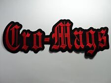 CRO-MAGS  EMBROIDERED BACK PATCH