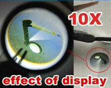 10X mini magnifying Glass loupe Hand Held Tweezers Magnifier with LED lamp