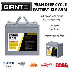 Giantz 75Ah 12V Marine Power Deep Cycle Battery