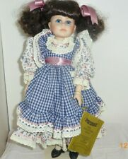 Ashley 17in porcelain doll dark hair in pony tails blue eyes by Seymour Mann