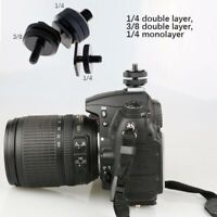 Tripod Mount Screw to Flash Hot Shoe Adapter For DSLR SLR Camera.Screw.Accessory