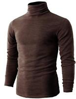 Men`s Slim Fit Turtleneck Knitted Pullover Thermal Warm Shine Soft Casual