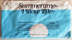 "Vintage Avon ""SUMMERTIME PILLOW TOTE"" Vinyl, Inflatable - New, SEALED!"
