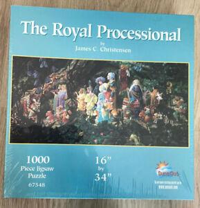 "Rare ""Art of James Christensen"" The Royal Processional jigsaw 1000 piece"