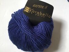 Aurora 8 Karabella Blue Yarn Extra Fine Merino Wool