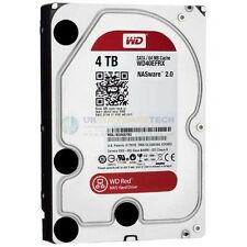 "4TB Rosso Western Digital SATA 6Gb/s 64MB cache di 3.5"" NAS Network Attached Storage"