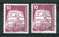 GERMANY 1975 10pf ELECTRIC LOCOMOTIVE COMMEMORATIVE STAMPS MNH & FU SG 1740