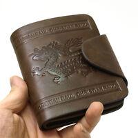 New Mens Clutch Wallet Purse Zippered Pocket Dragon/Eagle/Tiger Mark In Fashion