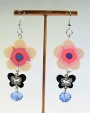 CG5277...POLYMER CLAY & CRYSTAL EARRINGS - FREE UK P&P
