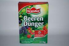 Grandiol Beerendünger - Erdbeerdünger - Grandiol Dünger 2,5kg Packung - (2€/kg)